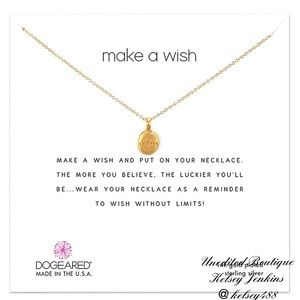 NWT - DOGEARED Sisters Make A Wish Necklace